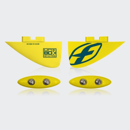 SET AILERONS F-ONE UNIBOX 2018 JAUNE